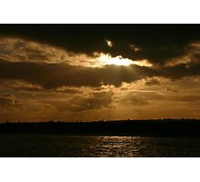 Scary sky at Skerries Photographic Print