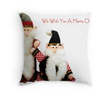 We Wish You a Merry Christmas Throw Pillow