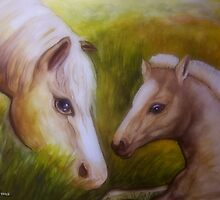 Mother and baby foal by Noel78