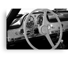 Mercedes cockpit detail, monochrome Canvas Print