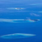 North Ari Atolls in Maldives - aerial view over Eden on Earth by Bruno Beach