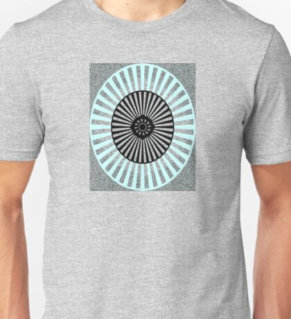 Blue, Gray, and Black Oval Pattern Unisex T-Shirt