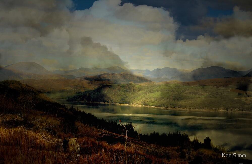 The Glen: The Evening, the Castle & the Redstart. by Kenart