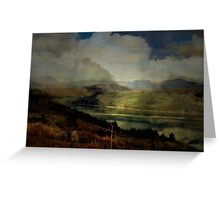 The Glen: The Evening, the Castle & the Redstart. Greeting Card