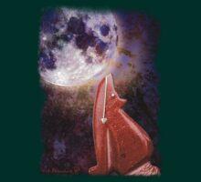 Moon Howling Coyote by William Braucksiek