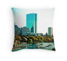 Back Bay, Boston, MA Throw Pillow