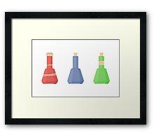 skyrim: minimalist potions Framed Print