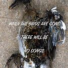 WHEN THE BIRDS ARE GONE THERE WILL BE NO SONGS. (CARD) by Thomas Barker-Detwiler