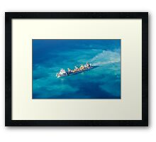 Ship creating new Atoll in the Maldives Framed Print