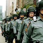 Marching Line of Policemen - Pittsburgh G20 by carsynvolk