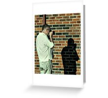 Photographing His Shadow Greeting Card