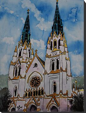 St John the Baptist Church religious art print by derekmccrea