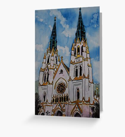 St John the Baptist Church religious art print Greeting Card