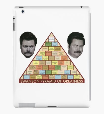 Swanson Pyramid of Greatness iPad Case/Skin