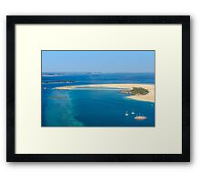 Isolated dream resort in the Maldives, Laccadivian Sea Framed Print