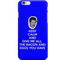 Keep Calm and Bacon and Eggs iPhone Case/Skin