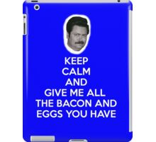 Keep Calm and Bacon and Eggs iPad Case/Skin