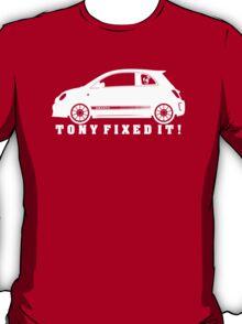 Tony Fixed It! white print T-Shirt