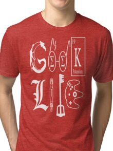 Geek Life White Version Tri-blend T-Shirt