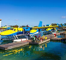 Hydroplane standing at Male airport, Maldives by Digital Editor .