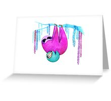 Colorful Sloths Greeting Card