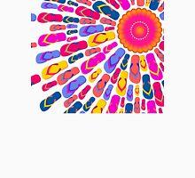 Flip Flops Sun rays Women's Fitted V-Neck T-Shirt