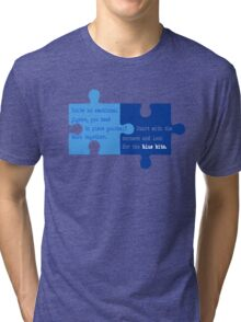 Man Up - Look for the Blue Bits  Tri-blend T-Shirt