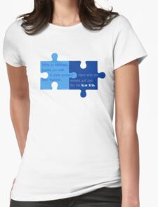 Man Up - Look for the Blue Bits  Womens Fitted T-Shirt