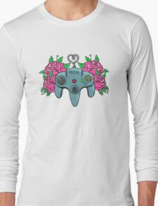 Retro Girl Gaming Long Sleeve T-Shirt