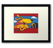 Joy Ride - Happy Dog Driving Framed Print