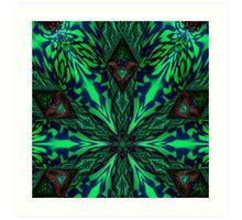 Green 3D 2000 Art Print