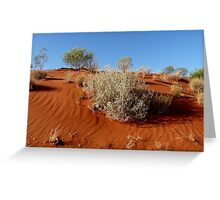 Red Sand Dune Greeting Card
