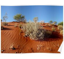 Red Sand Dune Poster