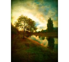 Autumn by the River Channel Photographic Print