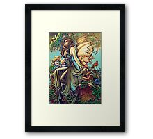 Titania and Puck Framed Print