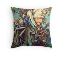 Titania and Puck Throw Pillow