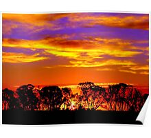 Northern Plains Sunset Poster