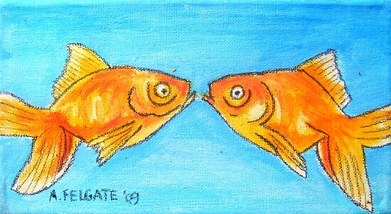Kissing Goldfish by Alexandra Felgate