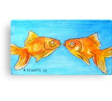 Kissing Goldfish Canvas Print