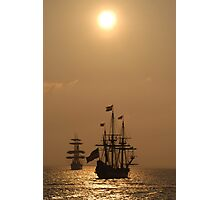 "Kalmar Nyckel and Gorch Fock II: ""Dawn Gold""  Photographic Print"