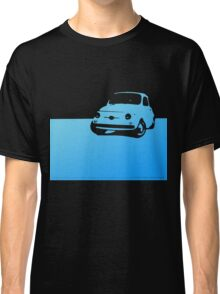 Fiat 500, 1959 - Light blue on black Classic T-Shirt