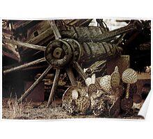 Nopal and Wagon Wheel 087 Poster