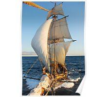 """The Brig Niagara  """"10 knots!"""" Poster"""