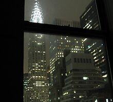 Watching Buildings at Night in NYC by ksuzan