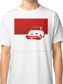 Fiat 500, 1959 - Red on white Classic T-Shirt