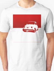 Fiat 500, 1959 - Red on white T-Shirt