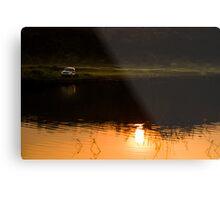 My SUV and sunset Metal Print