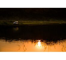 My SUV and sunset Photographic Print