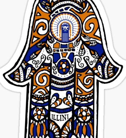 Illinois Hamsa Sticker