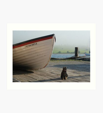 Chibley on the dock Art Print